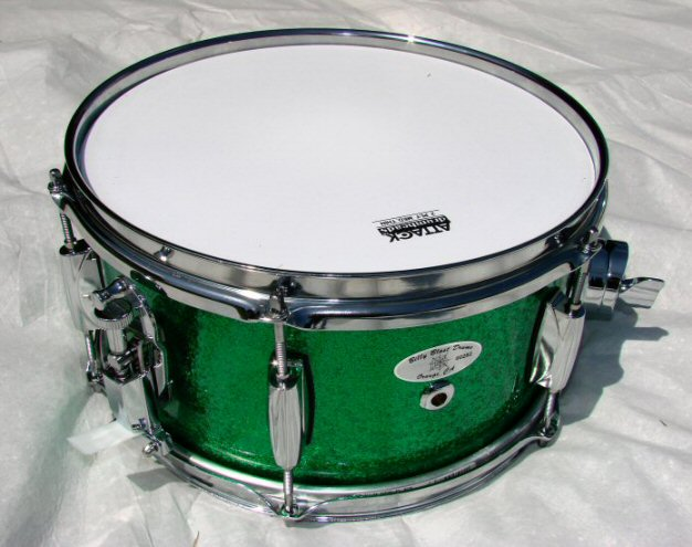 12&#34;X6&#34; Green Sparkle Popcorn Snare Drum